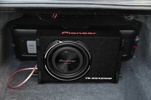 "10"" pioneer sub in slim box 800w"