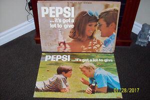 VINTAGE PEPSI  SIGNS 1964