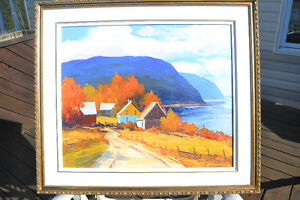 CHRISTIAN BERGERON OIL ON CANVAS CHARLEVOIX PAINTING MINT