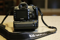 Canon Rebel XTI with lens & Battery Grip.