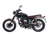 BRIXTON BX 125 - CLASSIC RETRO MOTORCYCLE - LEANER LEGAL - EURO 4