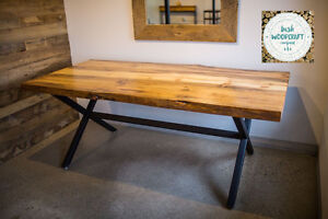 Handmade Dining Table with Gorgeous Reclaimed Wood: Customizable