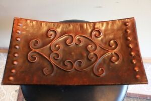 - Rust Color Tin/Cast Iron Tray -