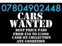 CASH FOR CARS VANS MOTORCYCLES SCOOTERS BEST PRICE CALL C