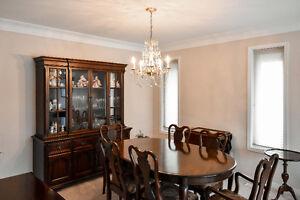 Gibbard Mahogany Dining Room Set with Cabinet