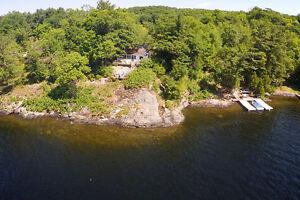 Lake Rosseau: Waterfront Cottage & Bunkie, 287 ft. shoreline