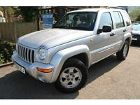 2004 (04) Plate Jeep Cherokee Limited 2.8 CRD Silver Long MOT Diesel Automatic 4