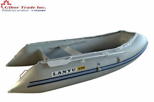 "11 ' inflatable fishing boat with aluminum floor 18"" Tubes"