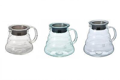 Hario XGS V60 Range Coffee Server Glass Clear Coffee Pot Tea