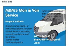 M&M'S man & van service can save u ££'s £££'s all areas covered
