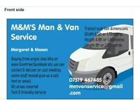 M&M'S man & van service can save u ££'s £££'s all areas covered