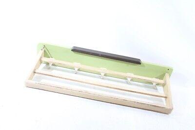 Alte Hutablage mit Hakenleiste Holz Kult Retro Garderobe Holzleiste mit Haken
