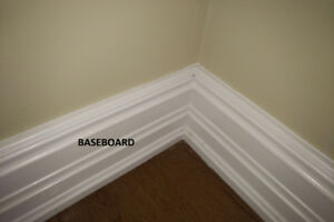 Wood Trims - Poplar, White, Baseboad, Window & Door Trims