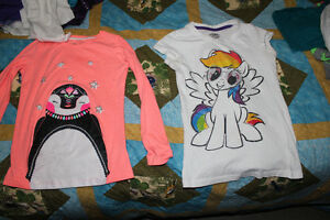 Girls size 10-12 T-shirts, longsleeve shirts.