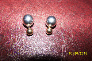 Earrings with the large ball for the back