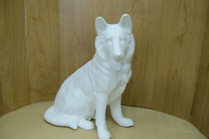 READY TO PAINT CERAMIC GERMAN SHEPHERD