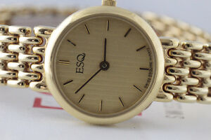 NEW  MOVADO-ESQ GOLD MICRO PLATED LADY'S WATCH FOR SALE
