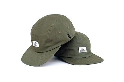 Fortis Olive 5 Panel Cap with Sunglasses Strap NEW Carp Fishing