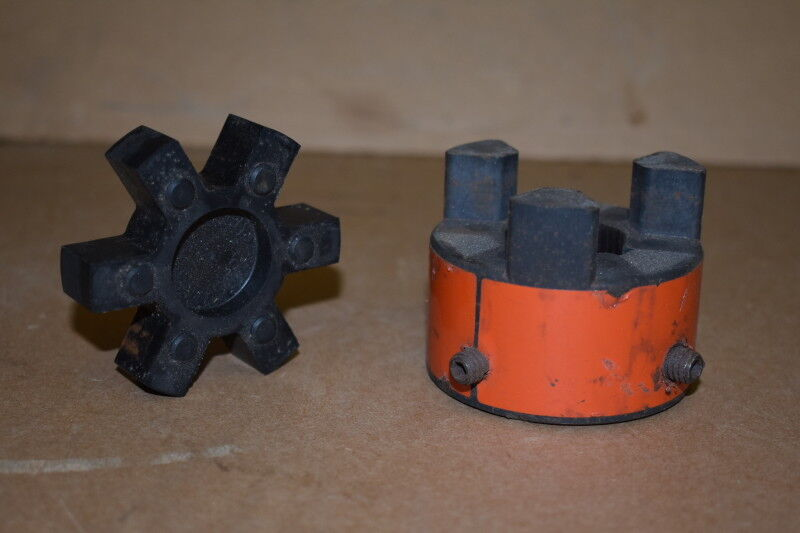 """Coupling hub and spider, 1.125"""" bore, Buna, L100, Lovejoy"""