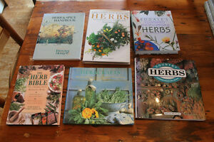 Box Lot of Books on Growing and Drying Herbs