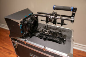 Mirrorless / DSLR Camera cage and rig with mattebox and case
