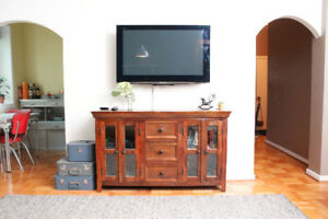 Wood Server/Credenza/TV Stand for Sale!