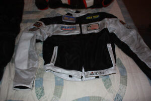 Motorcycle  racing boots and jacket