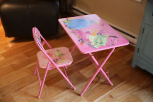 table et chaise de princesse