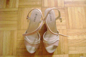 Guess shoes  Style Peep-toe Ankle Strap Platform Wedge  Size 7.5