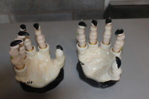Ceramic Witch Hand Candle Holders