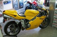 SuperBike Ducati 998 Yellow Testastretta 9000 KM . New Tires .