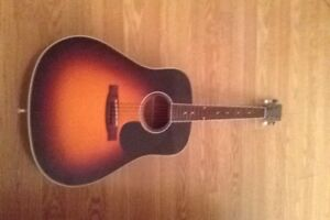 Segovia acoustic guitar with hard case