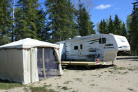 Candle Lake Camper on RV site