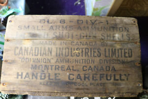 Antique military Ammunition Crate - Wooden
