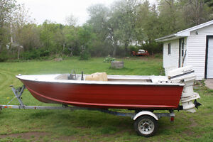 14 foot aluminum with 40 hp Johnson