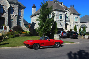 Convertible red corvette
