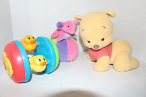 Tummy time crawling toys for baby -talking Pooh