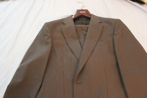 Mens Grey Pin Stripe Suit Kitchener / Waterloo Kitchener Area image 1