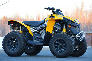 25inch itp holeshot + 12inch can am rims