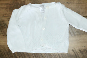 Carter's White Cardigan size 6m