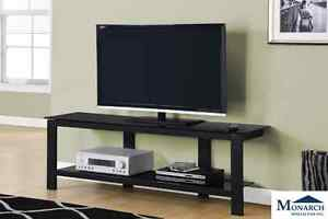 Brand NEW Black Metal TV Console! Call 780-437-0808!