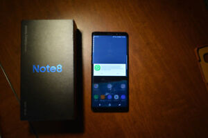 2 month old Samsung galaxy note 8 64gb black colour for sale