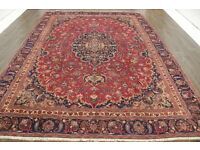 Persian Rug Traditional Antique wool handmade oriental rug 8.8ft by 11.9ft