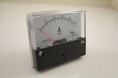 Analog Amp Panel Meter Current Ammeter Dc 0-100a Shunt Qc