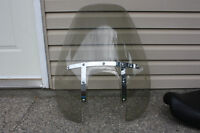 Harley Davidson Windshield, seat, saddlebags, exhaust pipes