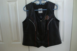 Ladies Harley leather veat