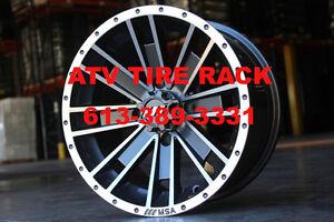 """14"""" and 15"""" MSA M28 AMBUSH atv wheels rims - ATV TIRE RACK"""