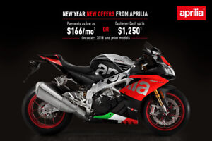 APRILIA WINTER SALE 1.99% FINANCING FROM$42 WEEKLY ALL IN $0 DEP