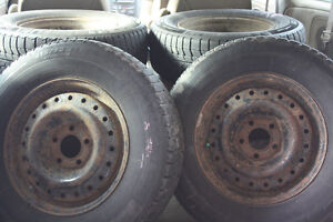 4 Snow Tires on rims Cambridge Kitchener Area image 1