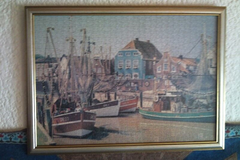 framed puzzle art work harbour scene other gumtree classifieds